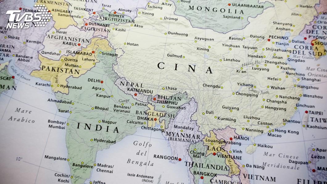 中印邊境衝突升溫。(示意圖/TVBS) 中印邊境衝突升溫 料加強拉攏盟國互尬