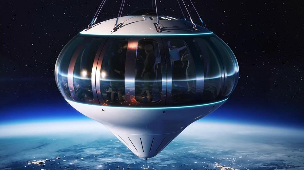圖/翻攝自Space Perspective YouTube 1人1分鐘1萬台幣 氫氣熱氣球載你上太空