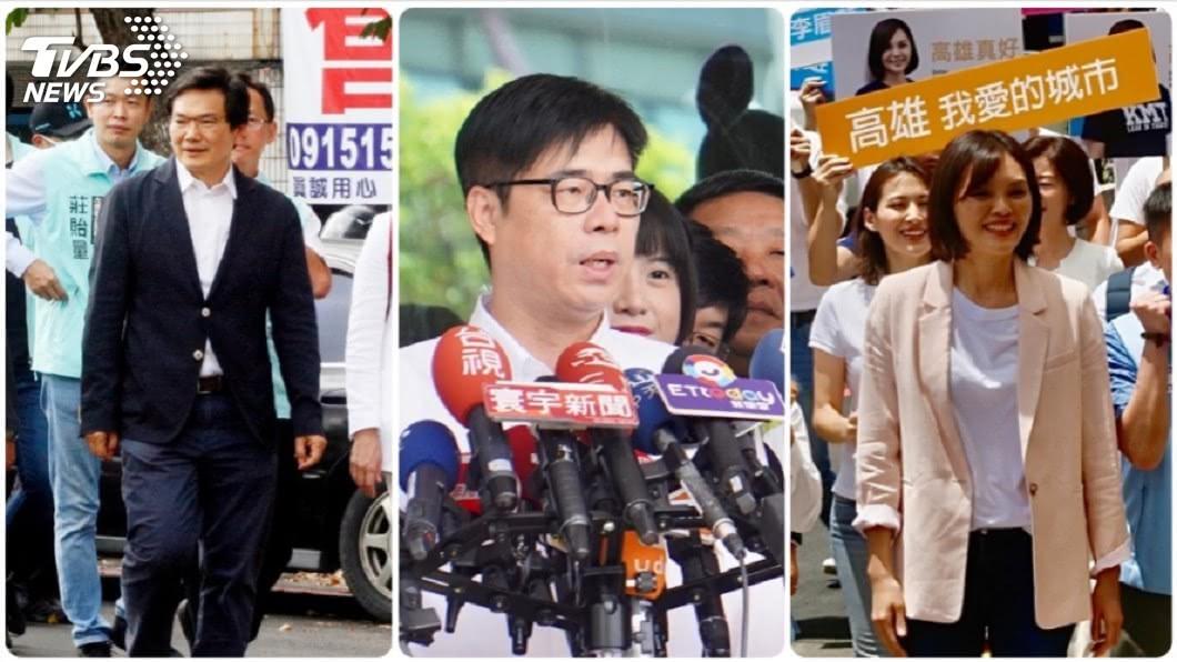 高雄市長補選登記最後一天,藍、綠、白參選人都完成登記。(圖/中央社) 藍綠白參選人完成登記 高雄市長補選三足鼎立
