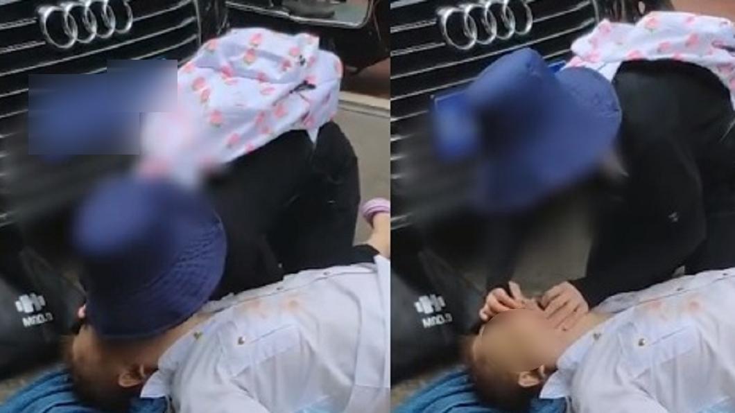 (圖/翻攝自澎湃新聞) 老翁昏倒路旁…她爆哭做CPR15分鐘 身分曝光