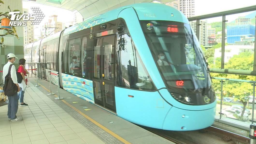 淡海輕軌的營運不如預期。(圖/TVBS) 淡海輕軌營運不如預期 侯友宜:較108年已成長53%