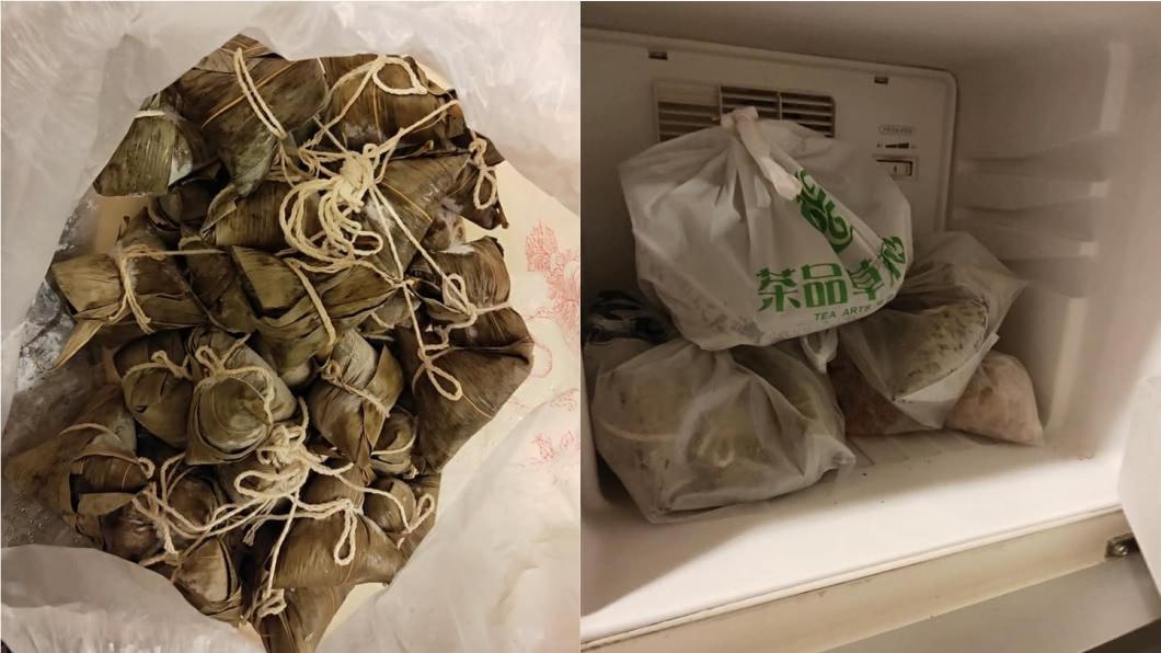 網友的媽媽去年狂包40顆粽給他。(圖/翻攝自臉書社團「爆怨公社」) 曾怨母包40顆粽撐爆肚 遊子1年後淚憶:想吃也沒有了
