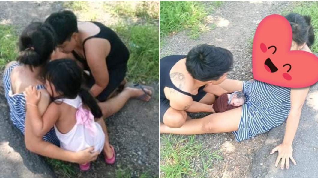 男子自告奮勇幫忙接生。(圖/Facebook Every day) 這才是暖男!產婦到院前羊水破 路過男脫衣「接胎」