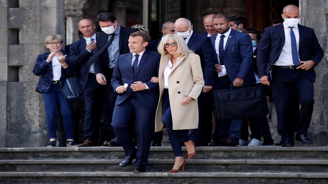 圖/達志影像路透 馬克宏期中考被當 法國地方選舉綠黨竄起