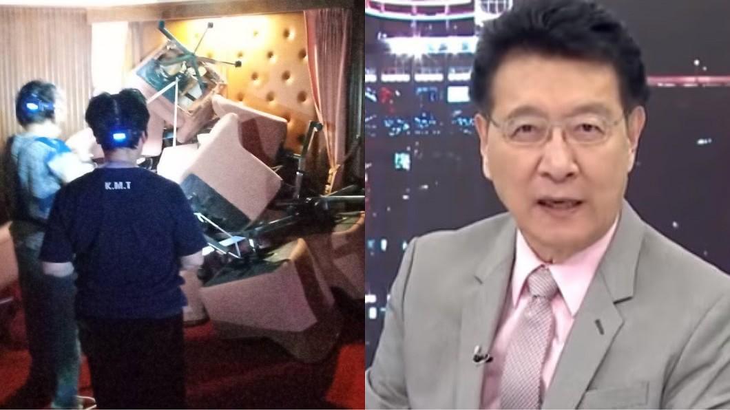 藍營抗爭淪為笑柄,趙少康認為還不如大家好好在家裡休息。(圖/TVBS、翻攝自國民黨立法院黨團臉書) 藍占議場「1hr被攻破」!趙少康傻眼:看了笑掉我大牙