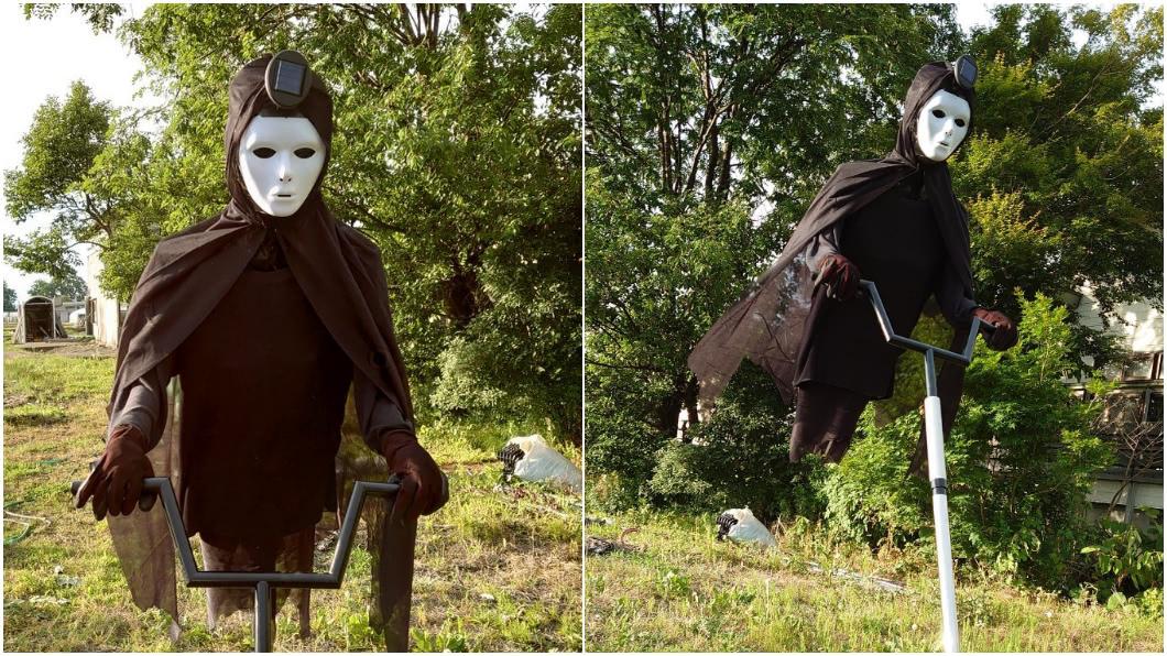 幽靈進化版?農夫創意稻草人 網:嚇人還是嚇麻雀?