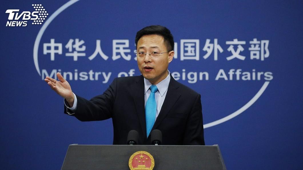中國外交部發言人趙立堅今天表示,中國不是嚇大的,將採取必要反制措施。(圖/達志影像美聯社) 回應美國制裁香港 中國外交部:不是被嚇大的