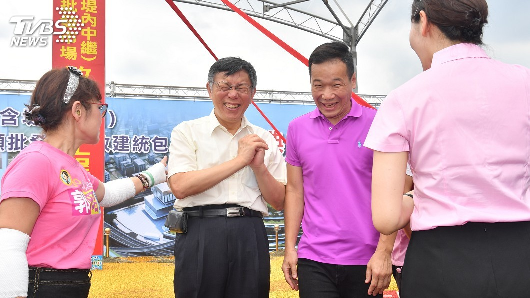 台北市長柯文哲。(圖/中央社) 藍委占議場抗議 柯文哲:沒幾分鐘就出來很漏氣