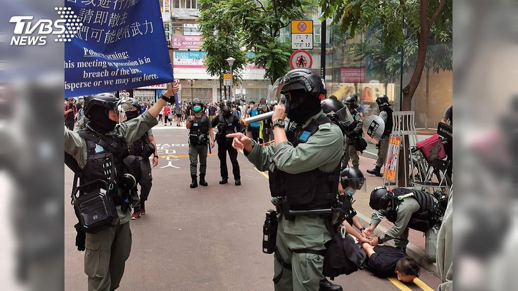 北京當局強推「港區國安法」,與港人爭取民主自由的意志對撞(圖/中央社) 港人力爭民主自由是北京國安威脅 沒有妥協餘地