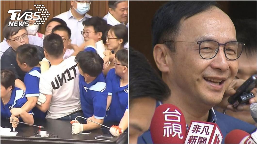 (圖/TVBS資料畫面) 藍占20HR被抬出議場挨酸漏氣 朱立倫1狠招反擊