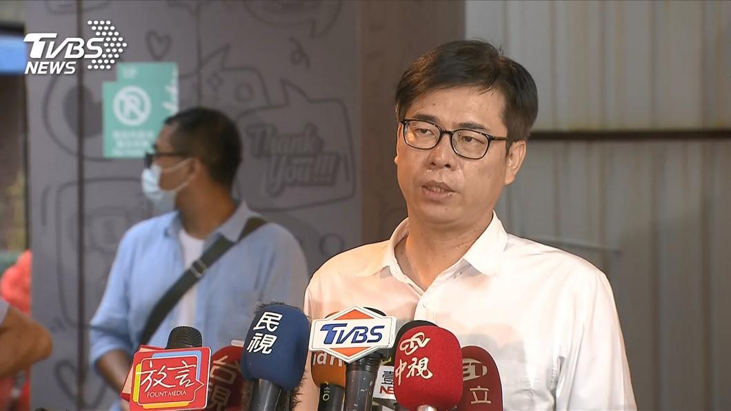 民進黨高雄市長候選人陳其邁。(圖/TVBS資料畫面) 韓國瑜選前之夜回來了 陳其邁酸:以為今天是6月5日