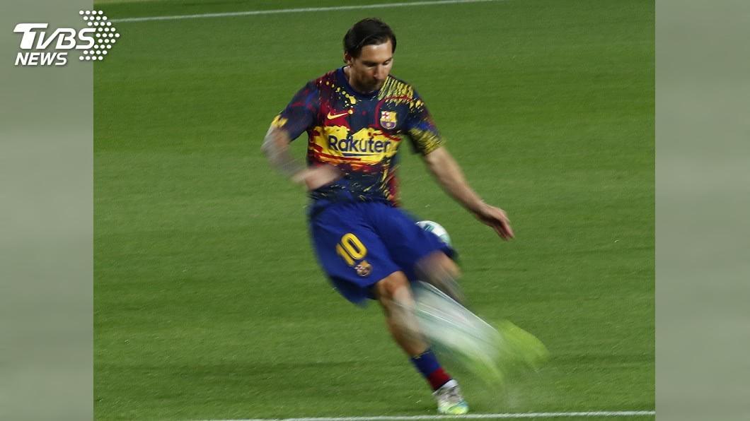阿根廷足球巨星梅西。(圖/達志影像美聯社) 傳梅西約滿將離開巴塞隆納 席丹盼球王續留西甲