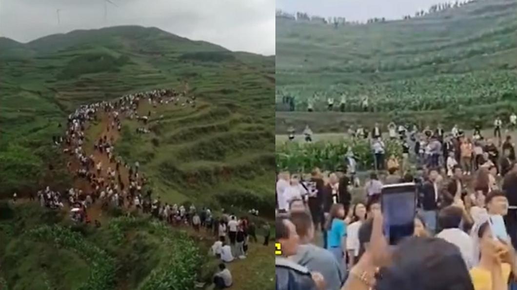(圖/翻攝自中新視頻、時間視頻) 貴州山傳「龍吟聲」萬人朝聖 憂地震當局嚇壞急調查