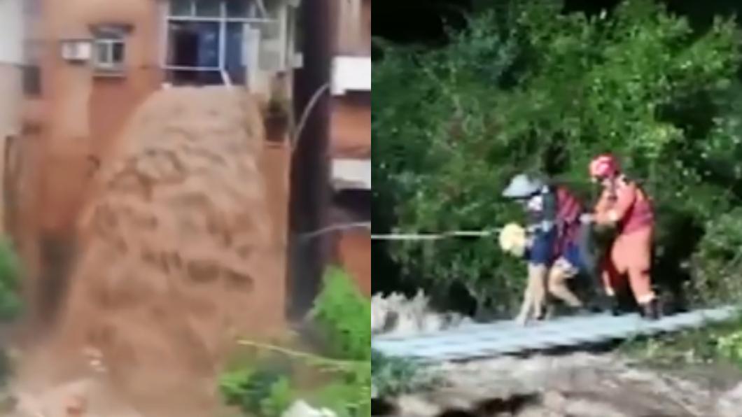 中國大陸南方連日遭逢暴雨侵襲。(圖/翻攝自微博) 重慶暴雨成災…住家慘成「瀑布」 網驚:更勝九寨溝