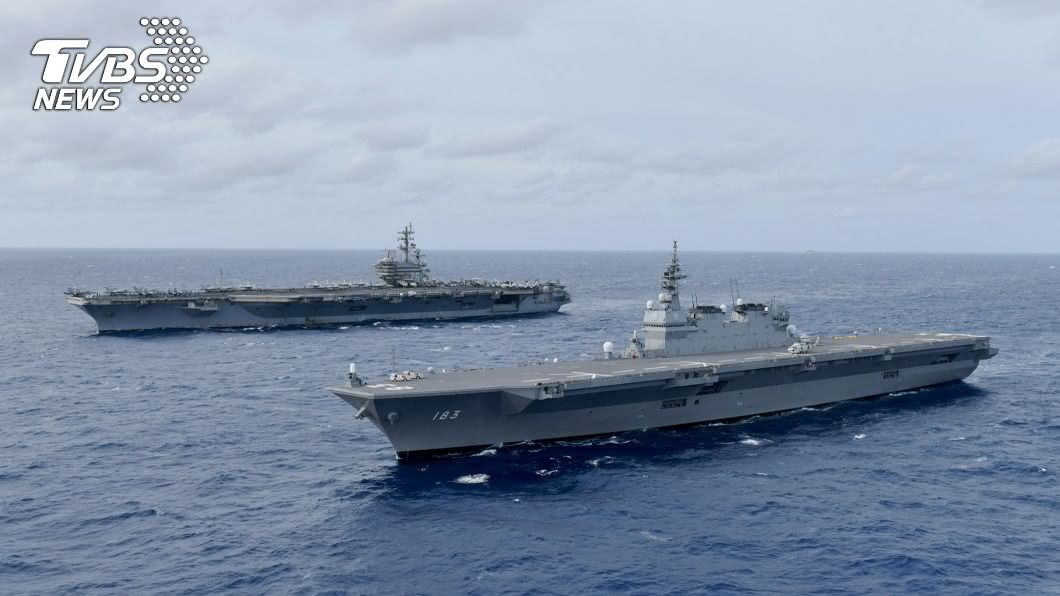 圖/路透社 美中罕見南海軍事對陣! 美軍派雙航母大演習