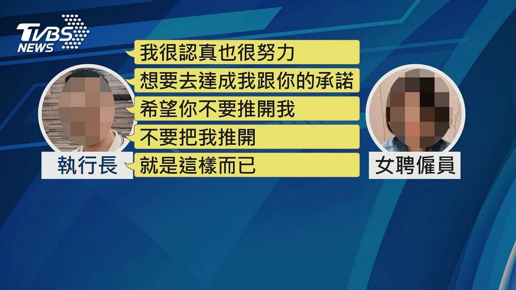圖/TVBS 女聘員控性侵墜樓 「130秒道歉錄音」曝光