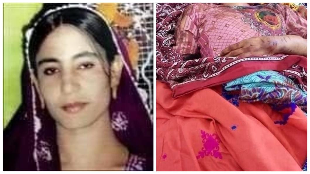 巴基斯坦1名女子日前被人發現陳屍在當地一處公路旁邊。(圖/翻攝自推特) 路邊驚見妙齡女屍 父、尪互控彼此「名譽殺人」