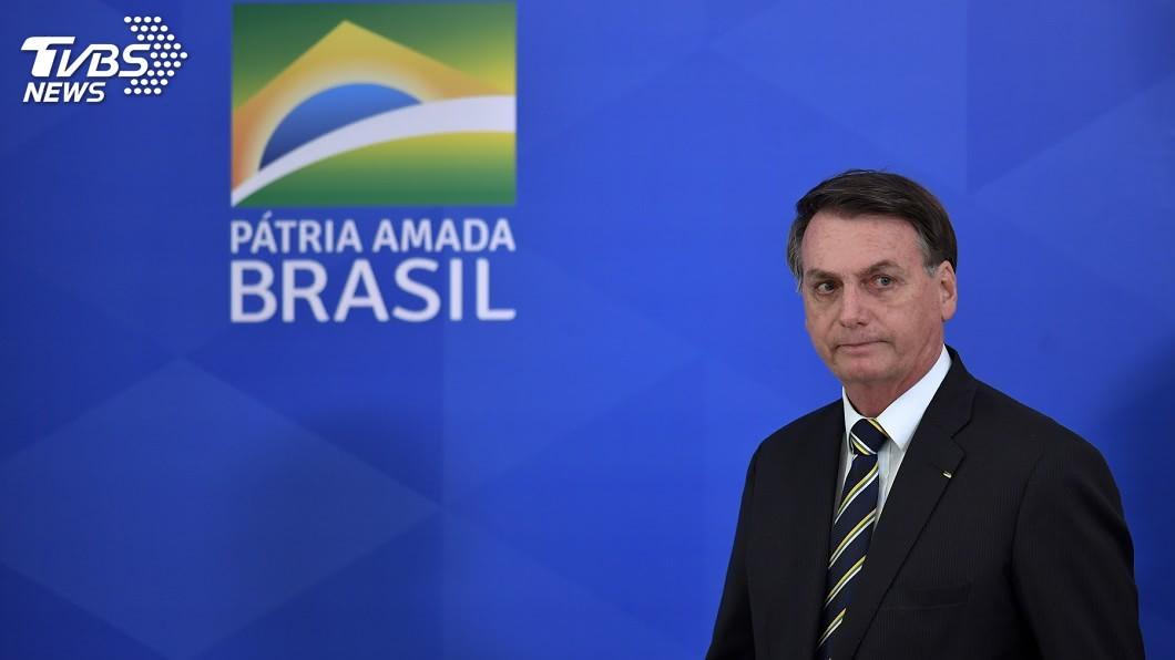 巴西總統波索納洛確診武漢肺炎。(圖/達志影像美聯社) 巴西總統波索納洛確診武漢肺炎 一度發燒38度