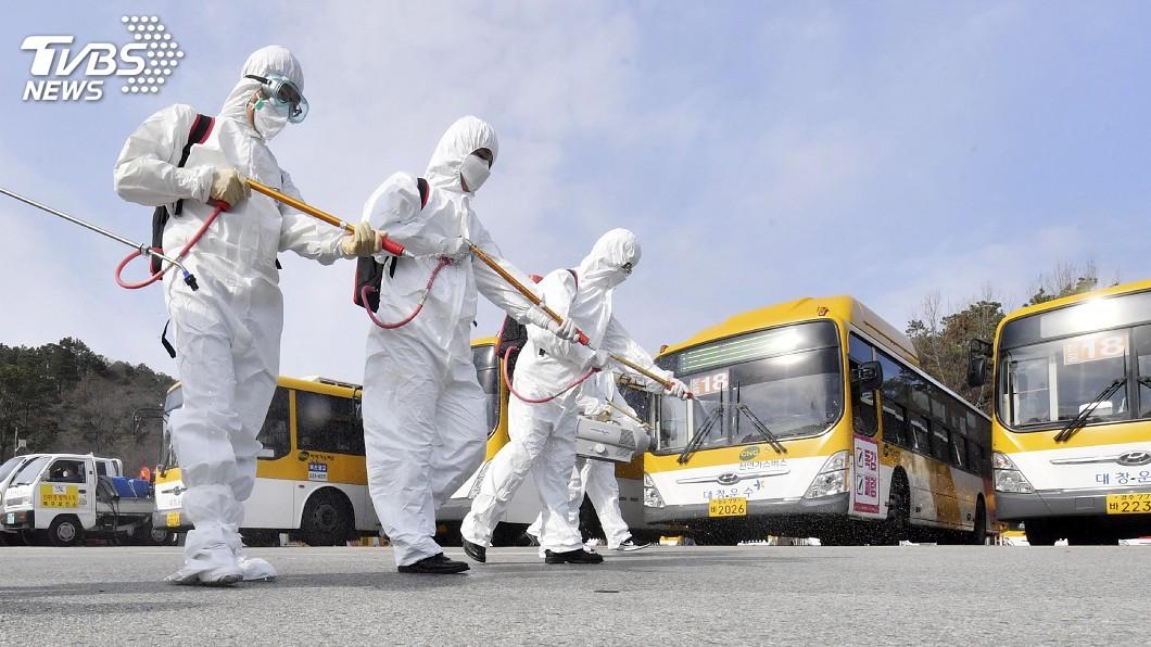 韓國確診感染武漢肺炎新增50例。(圖/達志影像美聯社) 韓國確診增50例 光州提高防疫等級仍占最大宗