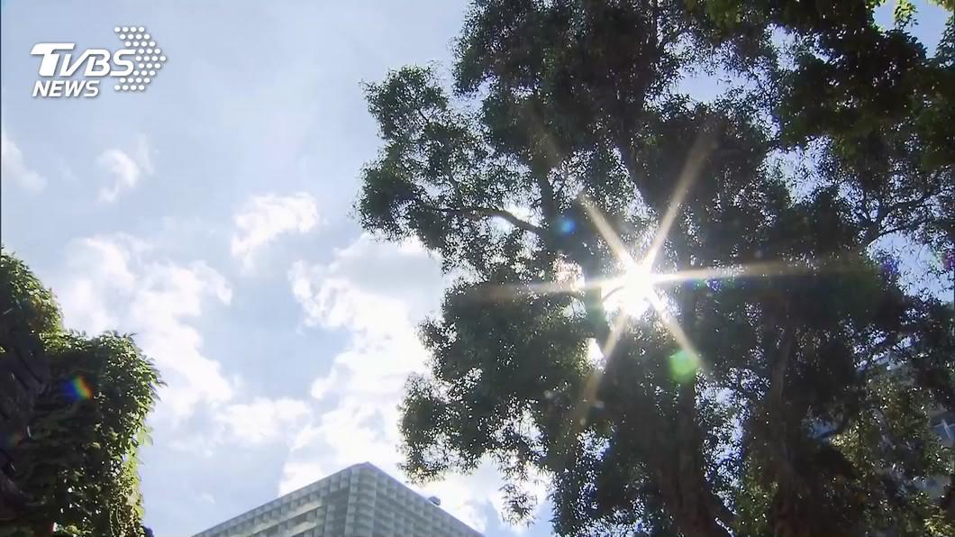 (圖/TVBS) 好熱!台北恐飆38度高溫 午後留意雷陣雨