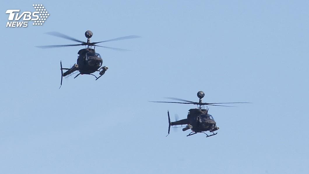 圖為OH-58D戰搜直升機。(圖/中央社) OH-58D戰搜直升機 2年內3度發生重落地意外