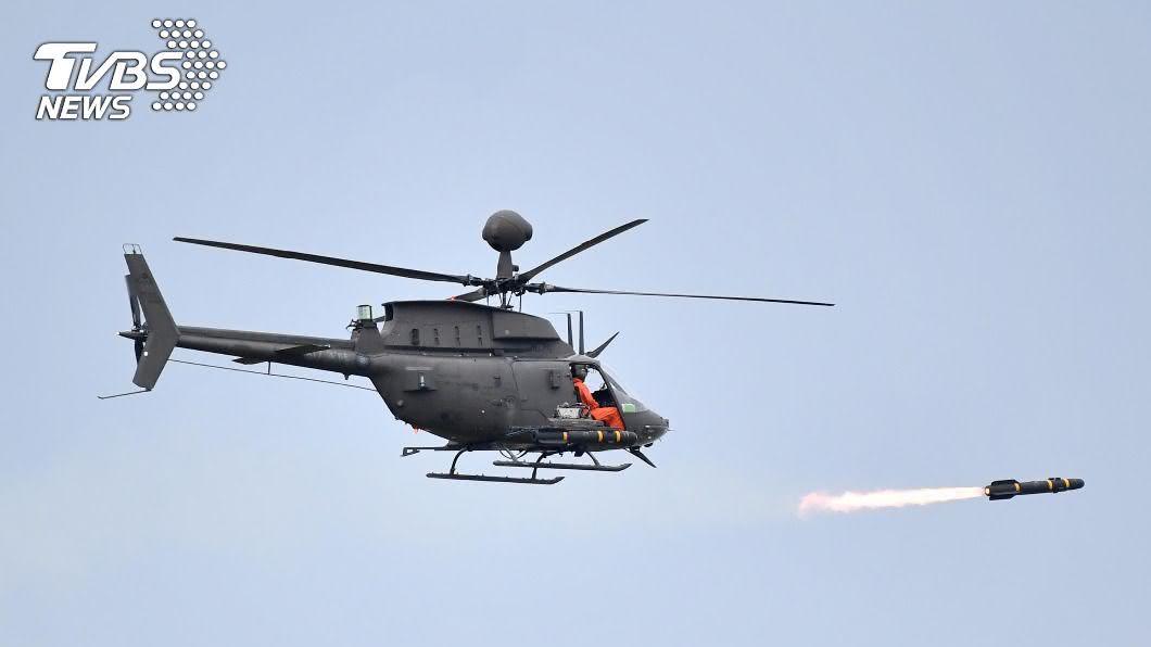 圖為OH-58D在漢光演習發射地獄火飛彈。(圖/中央社) OH-58D直升機兩駕駛殉職 陸軍:全機隊停飛待檢
