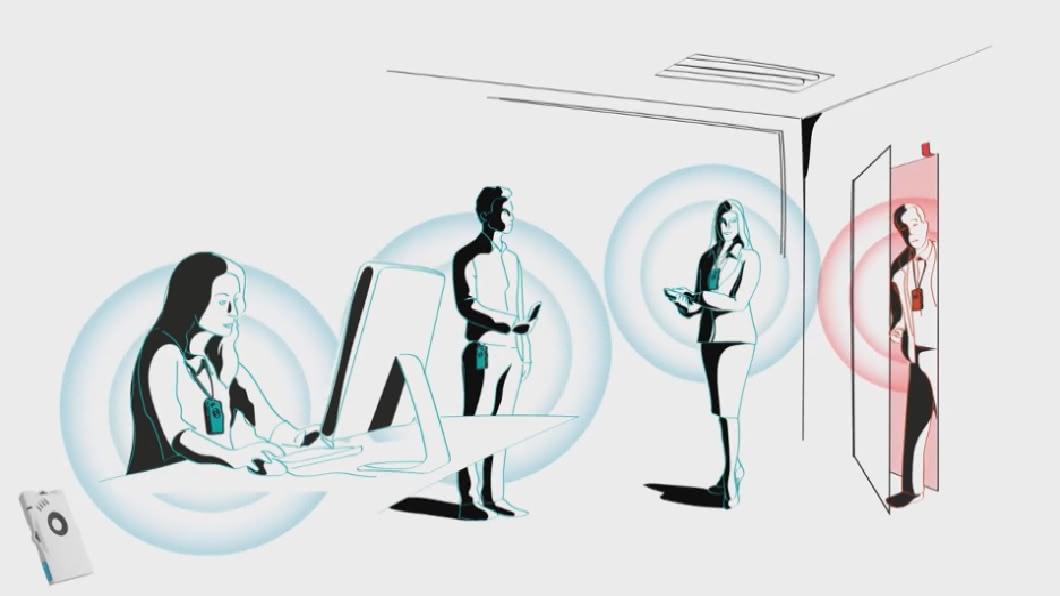 科技防疫助解封 企業推配戴式感應器
