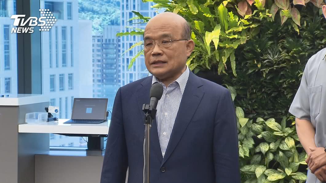 行政院長蘇貞昌。(圖/TVBS) 公費流感疫苗50-64歲暫緩施打引民怨 蘇貞昌致歉