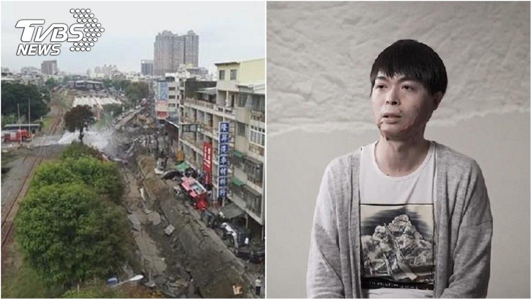 高雄氣爆案時任職消防替代役的傷者陳楚睿。(圖/TVBS資料畫面) 6年前高雄氣爆他忘怎麼呼吸…取頭皮重生 母一句惹淚崩