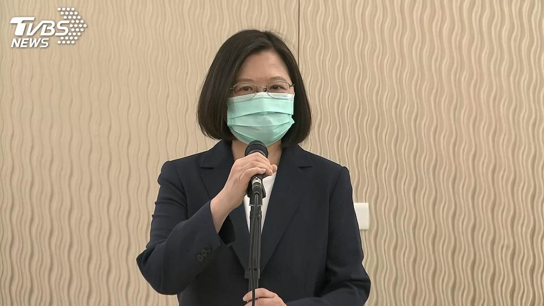 總統蔡英文。(圖/TVBS) 藍指蘇嘉全圖謀私利 蔡英文:提出指控要有證據