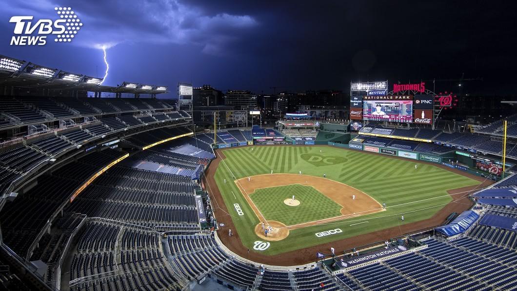 美國職棒大聯盟今天在不開放觀眾情況下舉行本季開幕戰。(圖/達志影像美聯社) 美國歷經最長棒球空窗期 大聯盟最短球季開幕