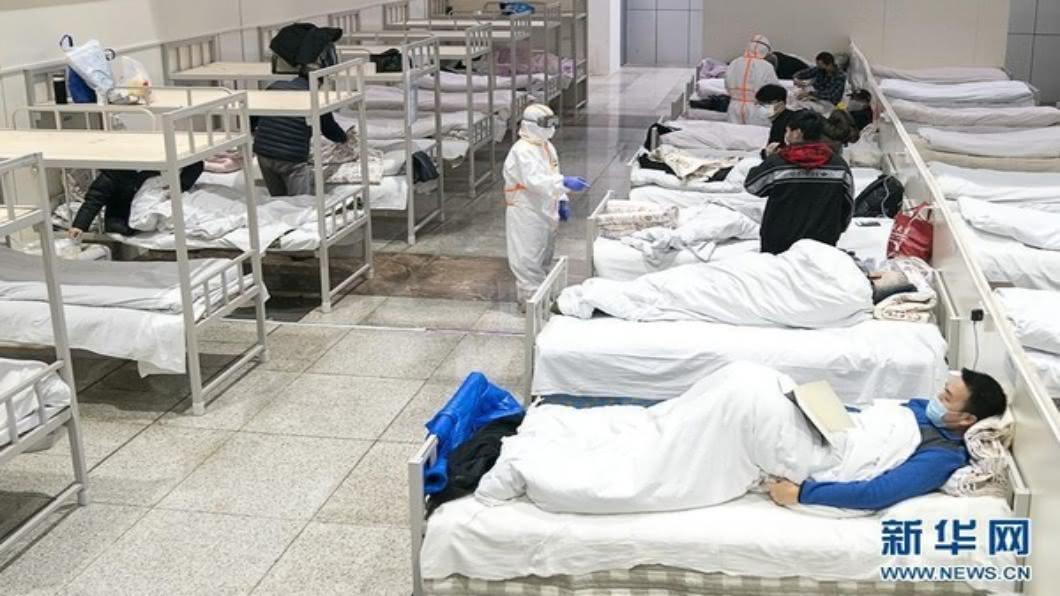 圖為武漢市方艙醫院/翻攝自 新華網 香港疫情失控 亞博館改建港版「方艙醫院」
