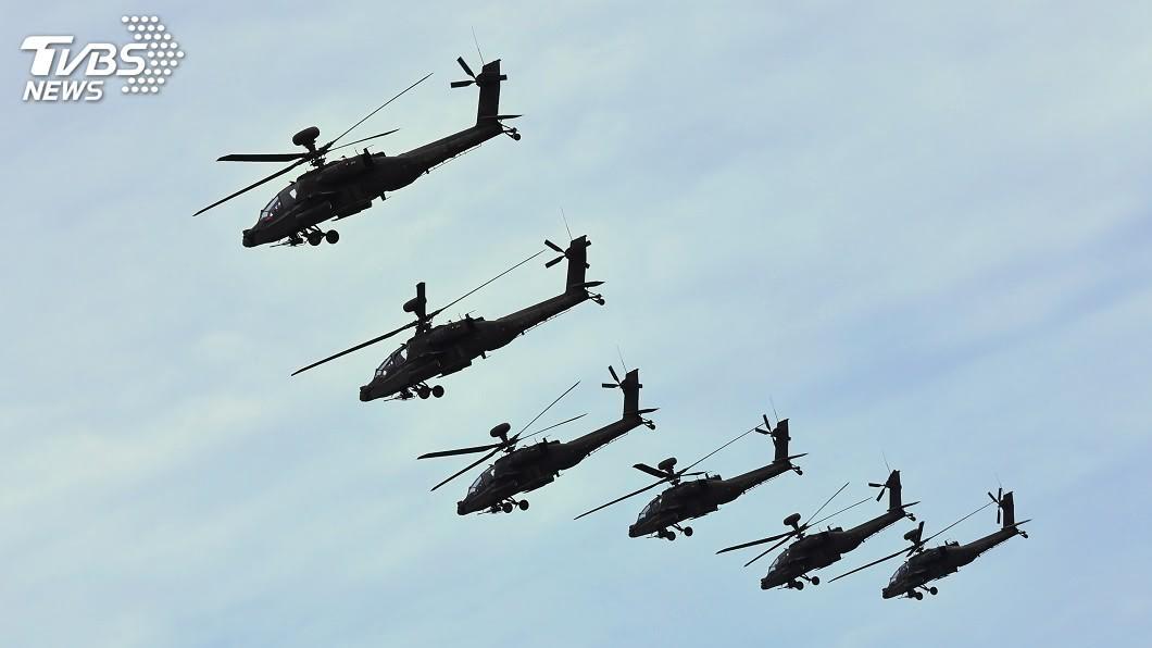 AH-64E阿帕契直升機。(圖/中央社) 陸軍採購阿帕契直升機結餘款 國防部:將繳國庫