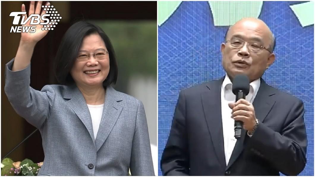 圖/TVBS 綠營支持者大反彈!蔡英文施政滿意度「連續2個月下滑」