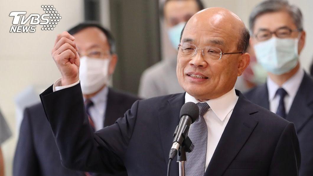 行政院長蘇貞昌。(圖/中央社) 蘇揆:台灣應以成功防疫迎向世界的經驗為榮
