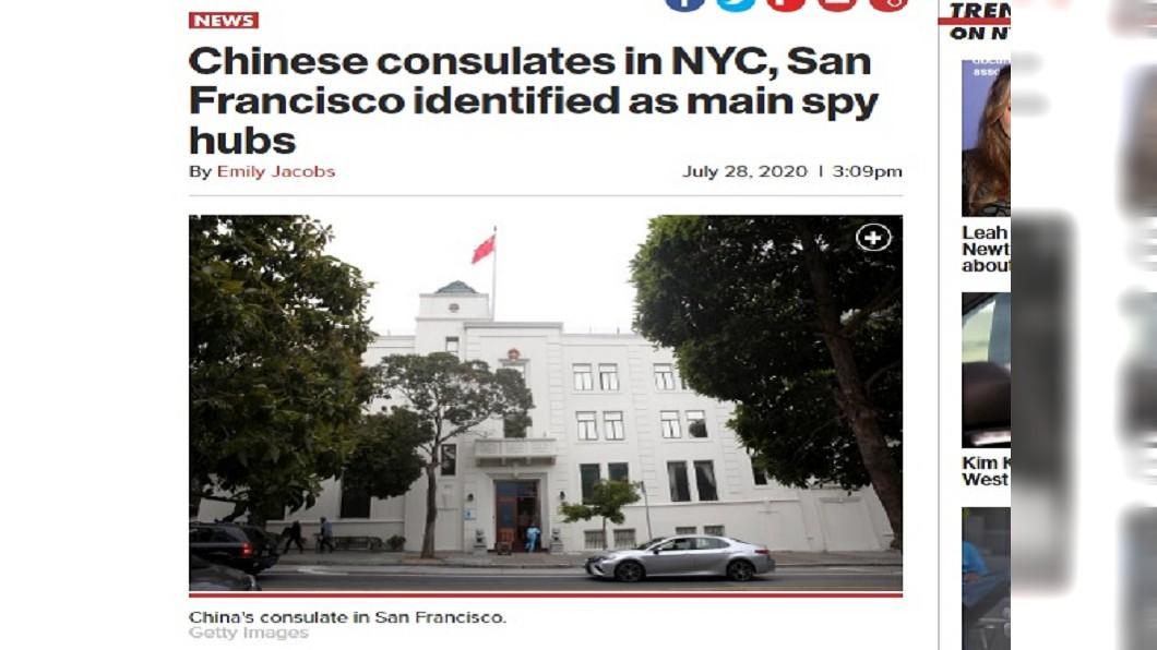 (圖/翻攝自New York Post) 關休士頓中領館 美媒:舊金山領館才是諜報中心