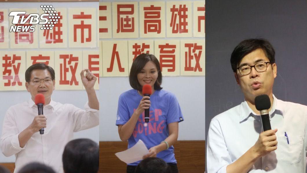 (圖/中央社) 高雄市長補選倒數 選前之夜藍綠白拚場