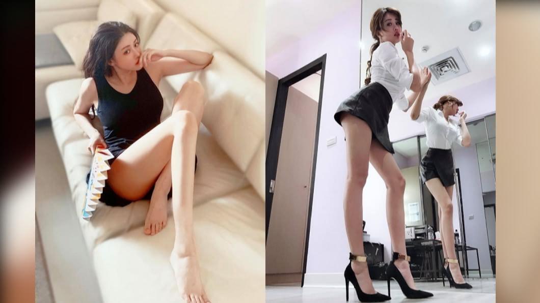 女星賴琳恩擁有逆天長腿。(圖/翻攝自賴琳恩 Lene Lai臉書) 只要走路就能瘦!賴琳恩公開「逆天長腿」養成法