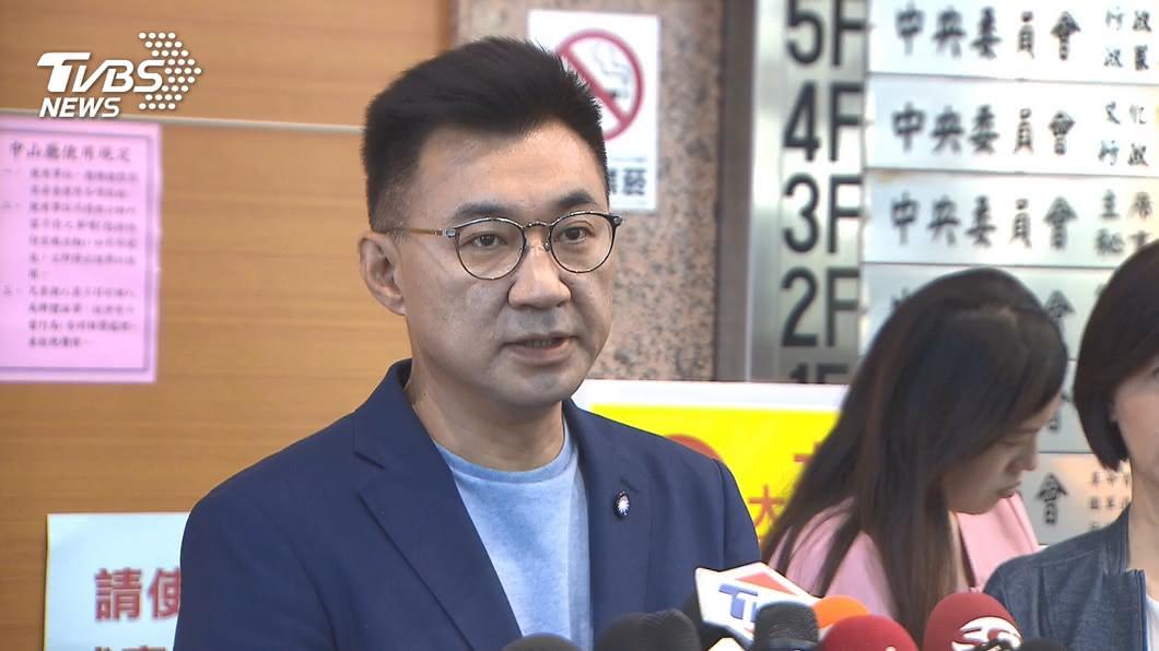 國民黨黨主席江啟臣。(圖/TVBS) 黨代表擬提案「主席不選總統」 江啟臣:依程序處理