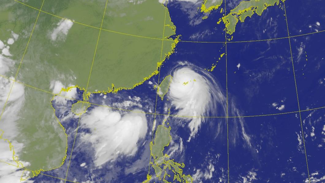 哈格比颱風今(3)日對台影響最劇。(圖/中央氣象局) 哈格比今風雨最劇恐發陸警 北北基11縣市防豪大雨