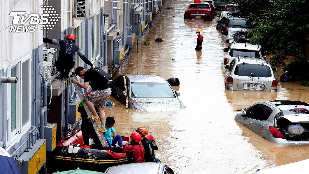 圖/達志影像美聯社 南韓高度關注哈格比 憂中部雨災再添變數