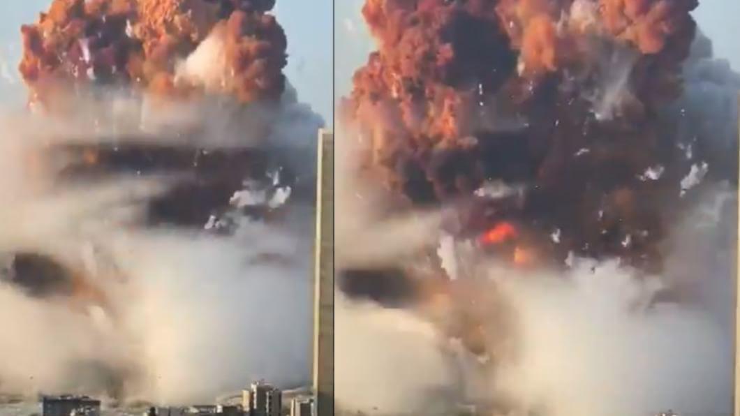 黎巴嫩首都大爆炸,死傷慘重。(圖/翻攝ian bremmer推特) 黎巴嫩首都大爆炸78死近4000傷 醫院擠滿傷患