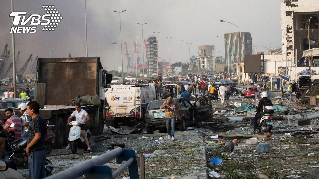 (圖/達志影像美聯社) 黎巴嫩首都貝魯特大爆炸 災區有如世界末日