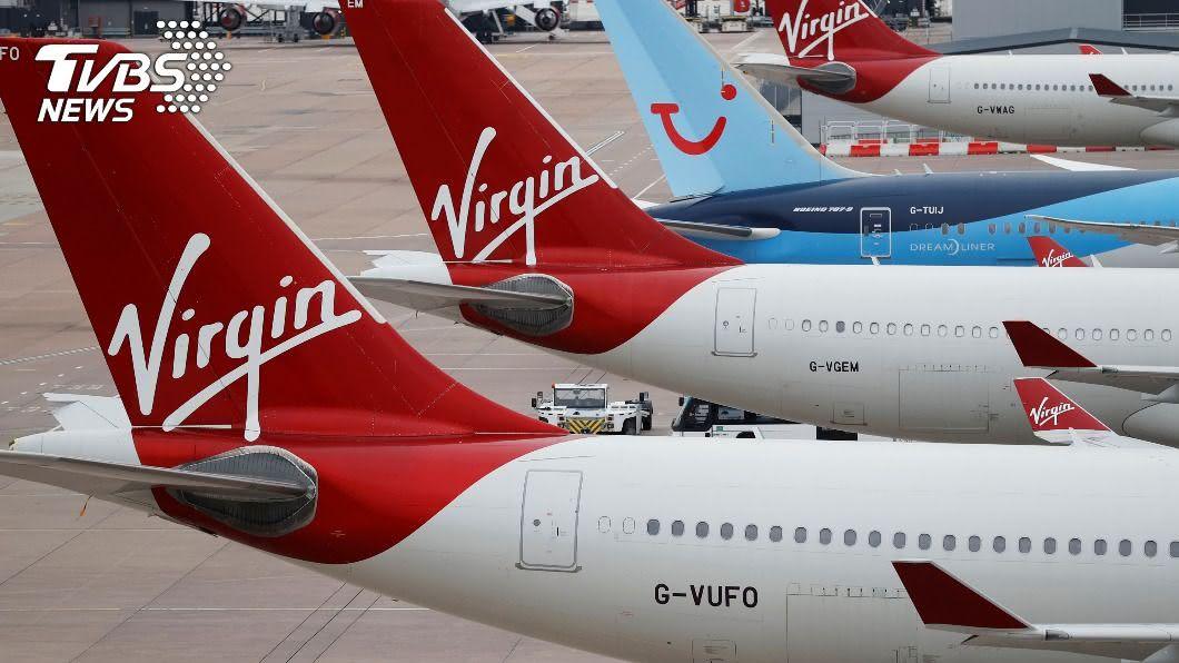 維珍航空公司(Virgin Atlantic)向美國法院聲請破產保護。(圖/達志影像路透社) 被疫情壓垮!維珍航空裁撤3千人 在美申請破產保護