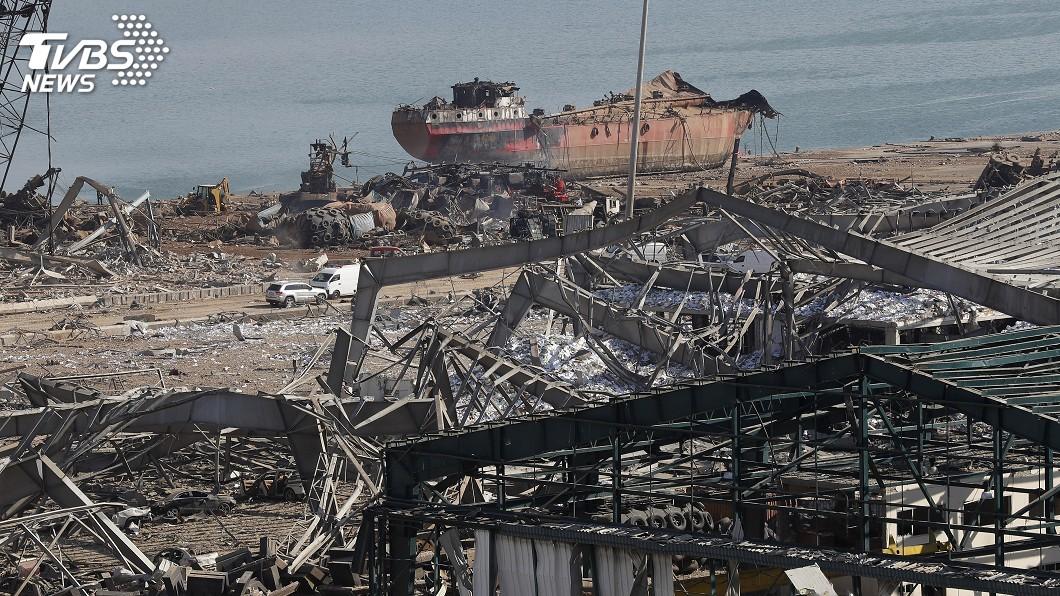 (圖/達志影像美聯社) 貝魯特港區驚天大爆炸 儲放硝酸銨官員被軟禁