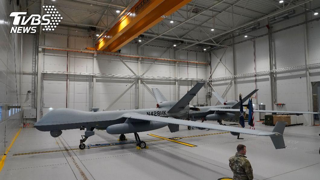 圖為MQ-9死神無人機,類似「海上衛士」無人機。(圖/達志影像路透社) 路透:美擬售台4架先進無人偵察機 總價176億元