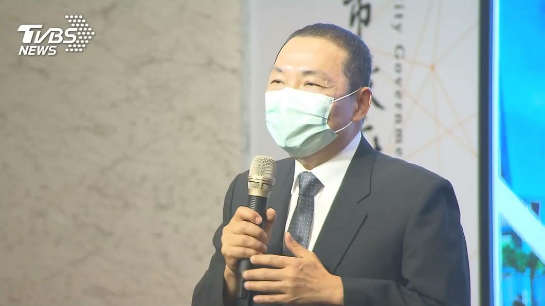 新北市長侯友宜。(圖/TVBS) 新北傳又有黑心口罩混入台灣 侯友宜:全力防堵