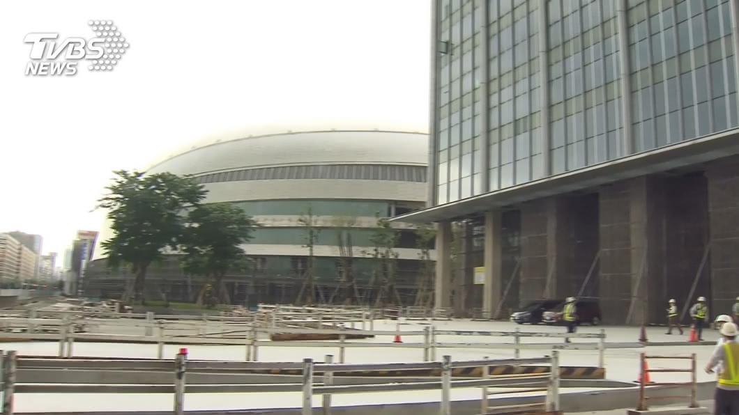 台北市政府同意大巨蛋復工。(圖/TVBS) 林洲民批大巨蛋復工再抽查創惡例 北市府:依法行政
