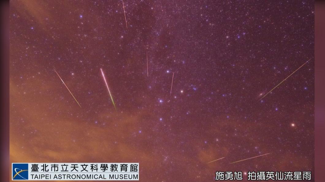 英仙座流星雨。(圖/翻攝自台北市立天文館官網) 超狂流星雨!每小時上百顆 最佳觀測時間、地點曝光