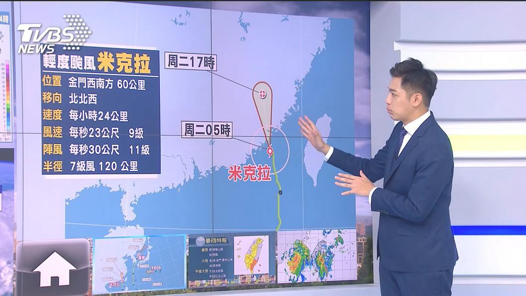 圖/TVBS 快訊/颱風直撲金澎! 澎湖上午停止上班上課